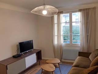 Rénovation appartement Colombes: Salon de style  par C'Design architectes d'intérieur