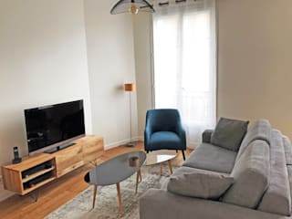 Rénovation appartement Paris 12e: Salon de style  par C'Design architectes d'intérieur