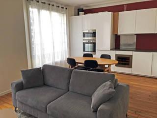 Rénovation appartement Paris 12e: Salle à manger de style  par C'Design architectes d'intérieur