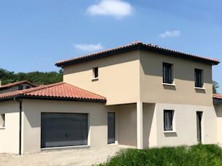 constructeur maison contemporaine:  de style  par VILLE ET HABITAT construction