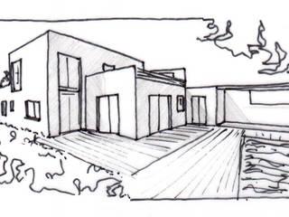 maison architecture moderne:  de style  par VILLE ET HABITAT construction
