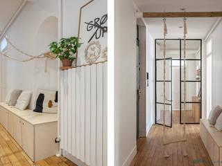 ANNECY Couloir, entrée, escaliers scandinaves par SOHA CONCEPTION Scandinave