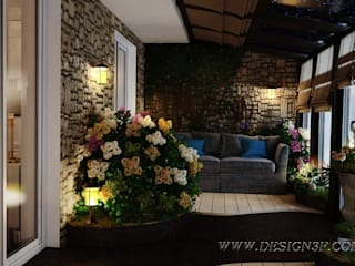 Tropical style conservatory by студия Design3F Tropical