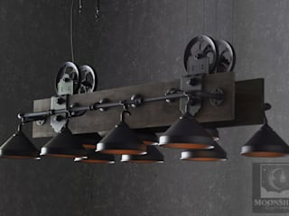 The Yorba Linda - Unique Industrial Pool Table Light: industrial  by Moonshine Lamp Co., Industrial