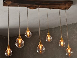 The Big Sur - Live Edge Wood Chandelier:   by Moonshine Lamp Co.