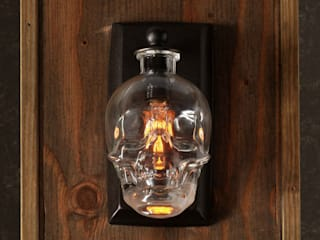 Crystal Head Vodka Skull Wall Sconce:   by Moonshine Lamp Co.
