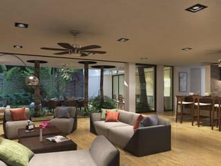 Casa en Xcaret Salones modernos de Segura Arquitectos Moderno
