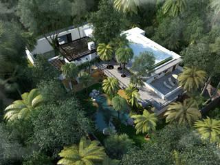 Casa en Xcaret Casas modernas de Segura Arquitectos Moderno