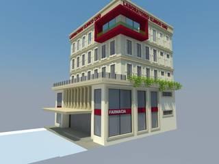 EDIFICIO LABORATORIOS Edificios de oficinas de estilo ecléctico de TECTUM Diseño & Construccion Ecléctico