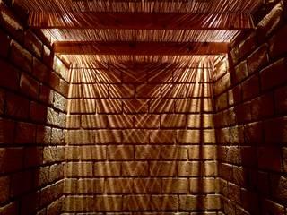 proyecto a-1: Pasillos y recibidores de estilo  por Daniel Cota Arquitectura | Despacho de arquitectos | Cancún