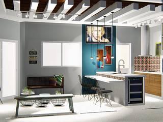 Varanda: Casas modernas por Trivisio Consultoria e Projetos em 3D