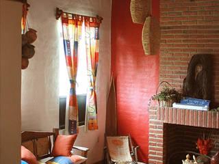 Cabaña Chagolla Salones rústicos rústicos de Orlando Quiñones Rústico