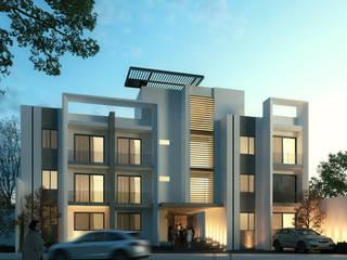 Edificio Departamentos Villa Plan Casas modernas de Orlando Quiñones Moderno