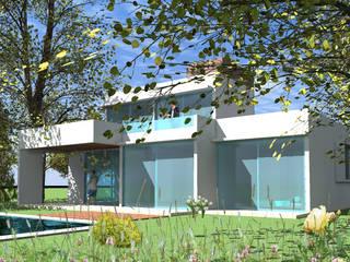 AOG Casas de estilo mediterráneo Ladrillos Blanco