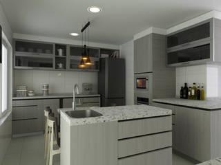 AOG CocinaAlmacenamiento y despensa Compuestos de madera y plástico Gris