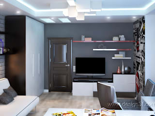 Chambre d'enfant minimaliste par студия Design3F Minimaliste