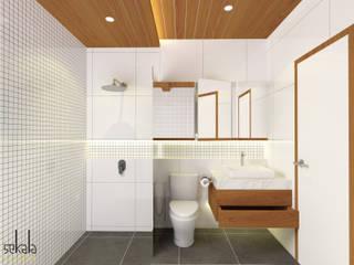 Rumah Ibu Siska SEKALA Studio Kamar Mandi Modern Kayu Wood effect