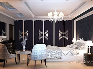 Eclectic style bedroom by студия Design3F Eclectic
