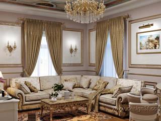 Salon classique par студия Design3F Classique