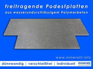 Podestplatten für Eingangsbereiche, Vorgärten oder Terrassenzugänge von Mineralit - Mineralgusswerk Laage GmbH Klassisch