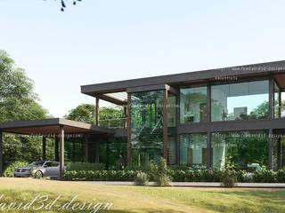 บ้านพักตากอากาศ 2ชั้น เขาใหญ่ นครราชสีมา โดย fewdavid3d-design โมเดิร์น