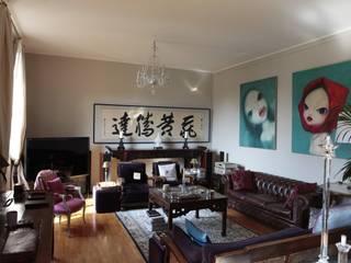 RISTRUTTURAZIONE APPARTAMENTO A MILANO Soggiorno in stile asiatico di Studio Architettura Macchi Asiatico