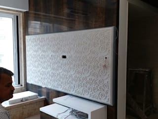 CARVING STONE TV CABINET:  Living room by DECOR ART STONES