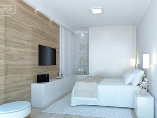 Suíte do Casal : Quartos  por Rafaela Stedile Arquitetura + Interiores,Moderno