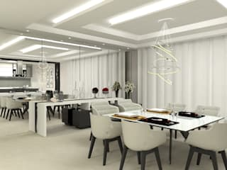 Laene Carvalho Arquitetura e Interiores Comedores de estilo moderno