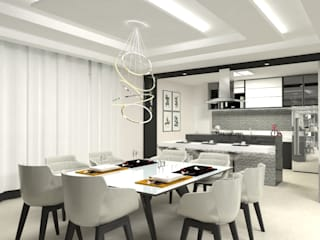 Laene Carvalho Arquitetura e Interiores ห้องทานข้าว