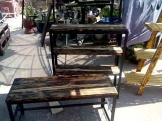 Banca y repisa herreria y madera Lumber:  de estilo  por Ambient Natura