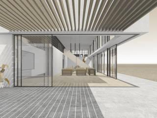Terraza patio hacia el interior : Livings de estilo mediterraneo por D01 arquitectura