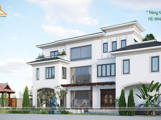 Biệt thự cách tân kiểu Pháp bởi Công ty CP kiến trúc và xây dựng Eco Home