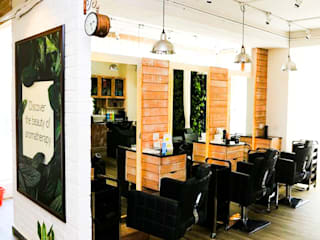 BLOSSOM KOCHHAR UNISEX SALOON INTERIORS IN HSR LAYOUT – BANGALORE: tropical  by C2D - Concept2Designs,Tropical