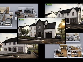 Modern Small House Design With Floor Plan Ideas by Yantram Architectural Rendering Studio - San Francisco, USA Yantram Architectural Design Studio Modern