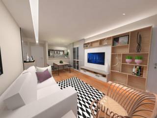 Ruang Keluarga Modern Oleh Fernanda Quelhas Arquitetura Modern