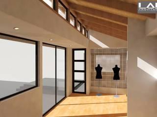 Pasillos, vestíbulos y escaleras de estilo moderno de Lau Arquitectos Moderno