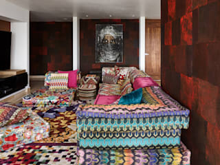 Harmony and Balance in the heart of Polanco, Mexico City. Salones modernos de Progressive Design Firm Moderno