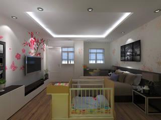 Phòng ngủ vợ chồng:   by Công ty TNHH MTV Xây Dựng Khang Điền
