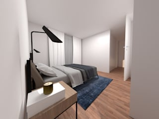 Bedroom by IAM Interiores, Minimalist