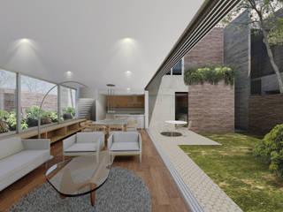 CASA EL YERBANIZ: Salas de estilo moderno por Atelier Uno