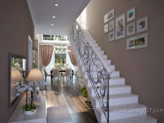 Classic corridor, hallway & stairs by студия Design3F Classic