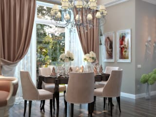 Classic style dining room by студия Design3F Classic