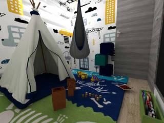 Proyecto Echeverria 976: Recámaras para niños de estilo  por BAUMHAUS