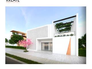 Vivienda MDRN.:  de estilo  por KREATE Arquitectura