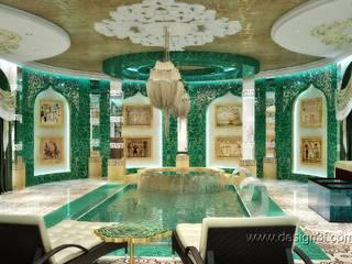 Роскошный бассейн в восточном стиле: Бассейн в . Автор – студия Design3F