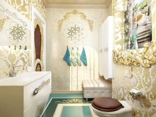 Asian style bathrooms by студия Design3F Asian