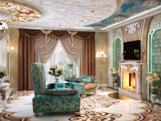 Salon asiatique par студия Design3F Asiatique