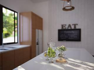 Cuisine minimaliste par студия Design3F Minimaliste