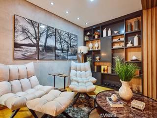 Espaço de leitura Salas de estar escandinavas por STUDIO 405 - ARQUITETURA & INTERIORES Escandinavo
